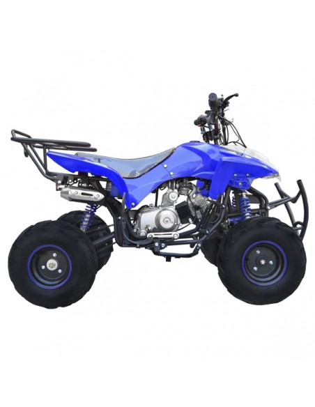 "Moto ATV 4 Ruedas Cuadrimoto 125cc Aro 7"" Adulto Automatica con Reversa Velocimetro y Parrilla"