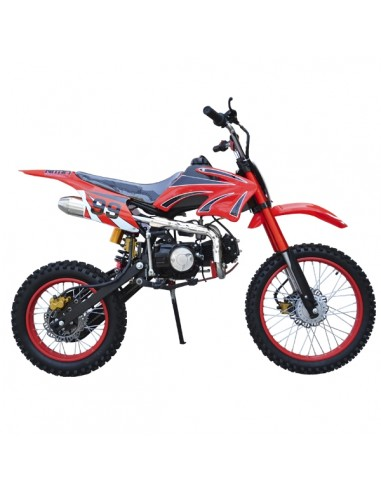 "Moto Enduro 125cc Adulto Nitro Aro 17"" y 14"" Mecanica 4 velocidades Motocross Dirty Bike"