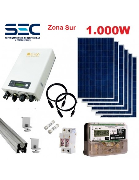 Kit Full On Grid Norte Energia Solar 1000w Omnik