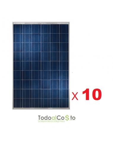 Pack de 10 Paneles Solar 270w Poly...