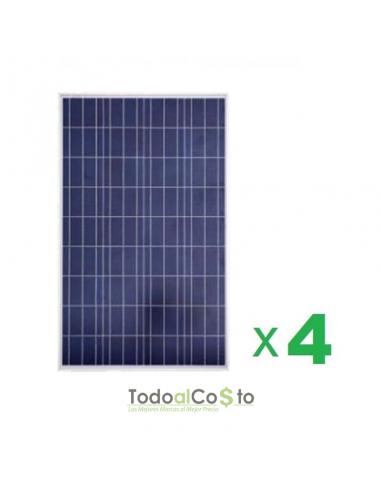 Pack de 4 Paneles Solar 100w Poly 12v...
