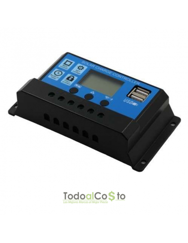 Regulador de Carga Solar 10ah 12/24v