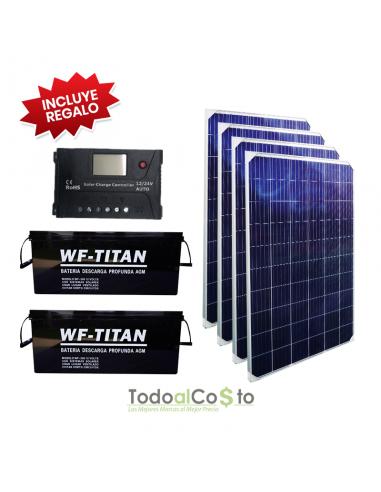 Kit Solar 2 Baterias AGM 200 Ah + 4...