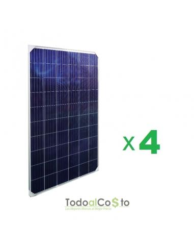 Pack 4 Paneles Solares Fotovoltaicos...